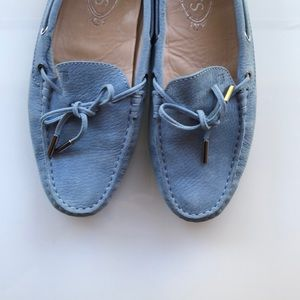 Light blue Tod's Suede Drivers
